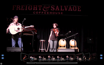Lowell Sparks and Lee White playing at the Freight and Salvage