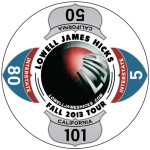 2013 Lowell James Hicks Tour Logo Sticker